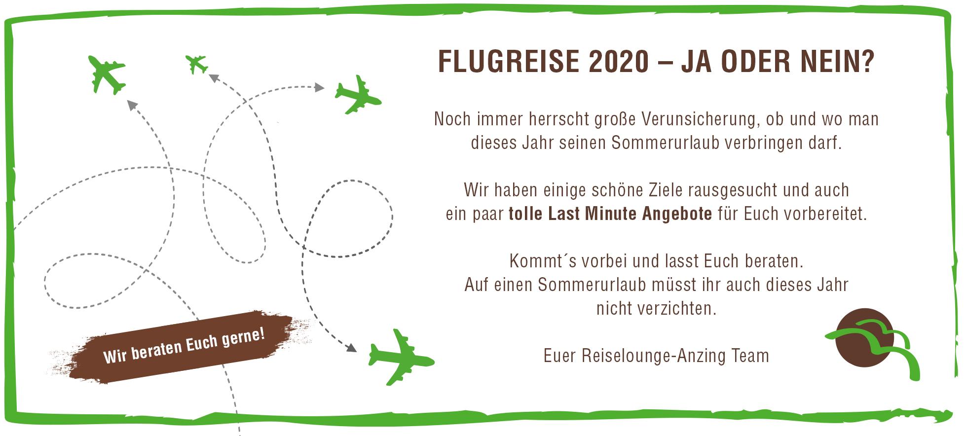 Flugreise 2020 – ja oder nein