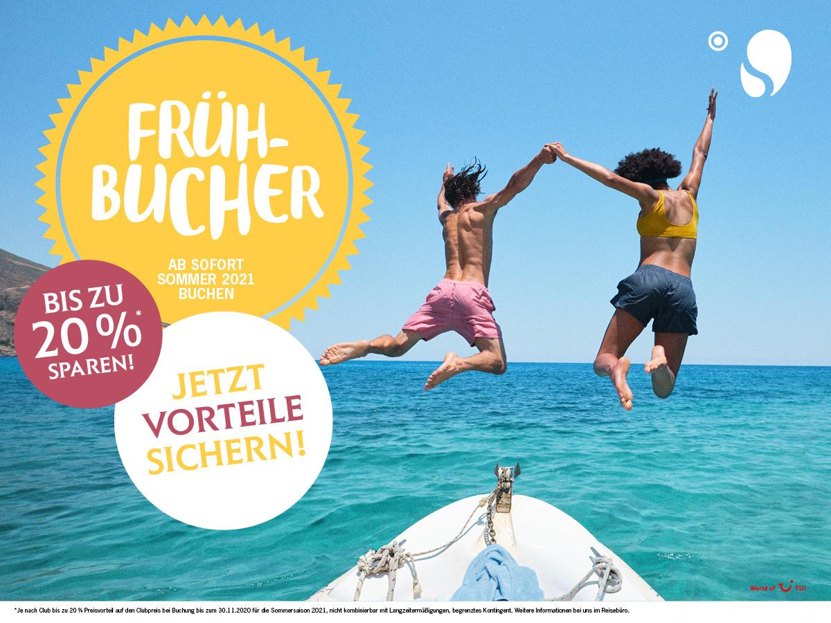 JETZT ODER NIE! – Frühbucher-Countdown Sommer 2021
