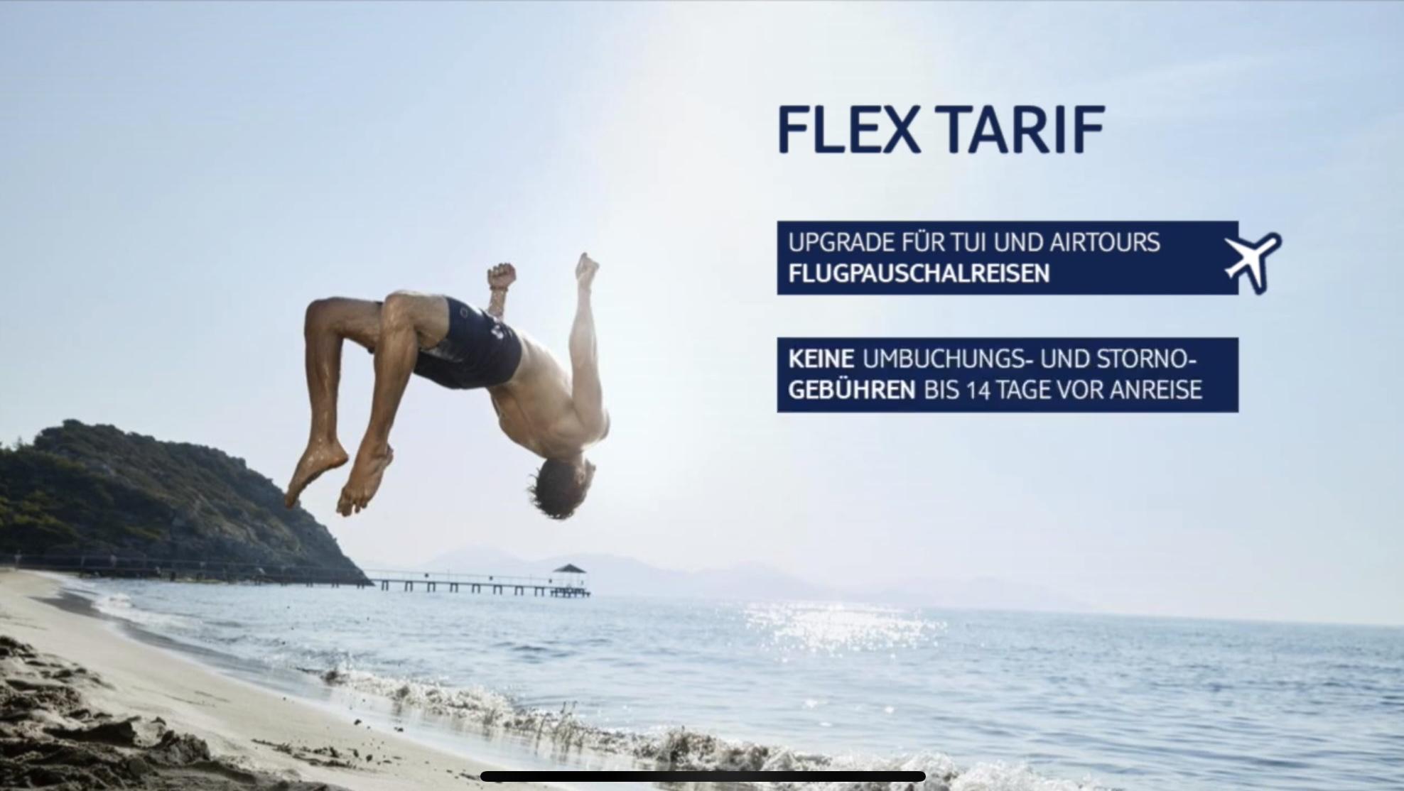 Neuer Flex Tarif für Flugpauschalreisen bei TUI